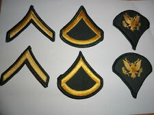US ARMY 6x RANK PATCHES PRIVATE FIRST CLASS SPECIALIST CLASS A UNIFORM GREEN BDU