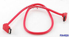 "20"" Shielded Round SATA 90 Degree Data Cable, FIA-R20"