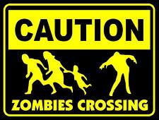 Precaución Pegatina de cruce de zombies (The Walking Dead guerra Mundial Z 28 días más tarde)