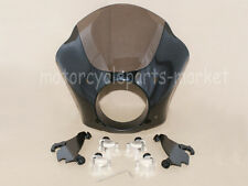 Black Gauntlet Fairing W/ Trigger Lock Mount Kit For Harley Sportster 1200 883