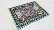 New Beautiful Magical Persian Carpet Mouse Rug Green Kaleidoscope 21
