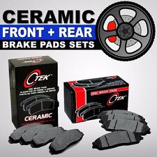 FRONT + REAR Premium Ceramic Disc Brake Pad 2 Complete Sets Cadillac CTS, STS