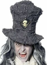 Halloween Gothic Grave Digger Grey Top Hat Fancy Dress Adult NEW P6406