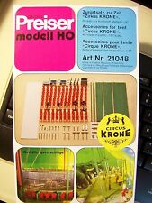 HO Preiser 21048 Accessories for Krone Circus Tent 1:87 scale MODEL DETAIL KIT