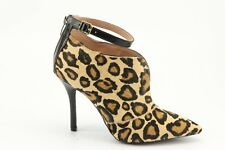 NEW Enzo Angiolini Pamla Leopard Print Calf Hair Booties 7.5 Ankle Boots Heels