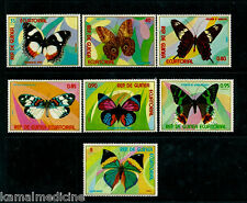 Equatorial Guinea MNH 7v, Butterflies, Insects  -  I06