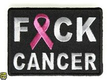 """F*ck Cancer Awareness Iron On Patch 2.75"""" x 2"""" Free Ship Breast Cancer P4314"""