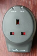 Compucessory Single Plug Socket  + Phone/Fax/Modem 13A Voltage Surge Protector