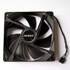 Antec PWM PC Case Fan 120mm 4 Pin Cooling Cooler Black Silent Quiet New 12V F04