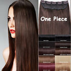 One Piece 100% Real Clip in Remy Human Hair Extensions Black Brown Blonde Lady