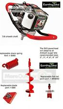 New Ardisam Earthquake E43 Powerhead One Man Post Hole Digger Earth Auger 8""