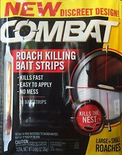 10 COMBAT Roach Killing Bait Strips -Large & Small Roaches - WORLDWIDE SHIPPING!