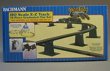 BACHMANN HO E-Z TRACK GRADUATED PIER SET 14 Pieces train trestle BAC 44471