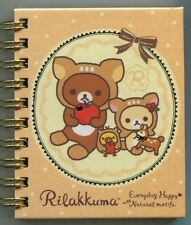 San-X Rilakkuma Relax Bear Spiral Notebook Memo #21 (Happy Natural Time)