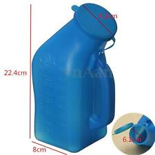 Portable Male Urinal Urine Bottle with Lid 1000ml for Car Caravan Camping Travel