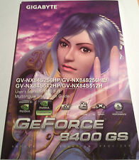Gigabyte GeForce 8400GS GV-NX84S256HP User Manual