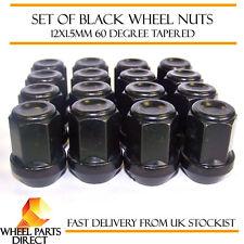 16 * 12x1.5 Mm 12x1.5 Negro Acero de aleación Rueda Lug Nuts 60 Grados cónico Pernos