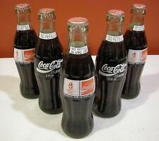 Albertville 1992 Olympics Sharing the Olympic Ideal Coca Cola Bottle Set of 5