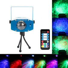 RGB LED Water Wave Ripple Effect Projector Party DJ Music Auto Stage Laser Light
