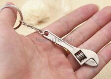 2 pcs Creative Tool 1PC  Metal Adjustable Wrench Spanner Key Chain Ring Keyring