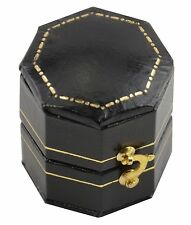 3 Luxury Antique Style Leatherette Hexagon Shaped Ring Boxes (TQ-4)