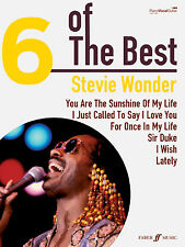6 Of The Best Stevie Wonder SIR DUKE Pop Soul Piano Guitar FABER Music BOOK
