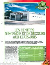 Firehouses Fire Stations Centre Incendie USA Sapeurs Pompiers FICHE FIREFIGHTER