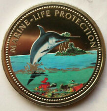 Palau 2000 Swordfish Dollar Colour Coin,ProofLike
