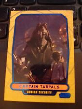 Star Wars 2012 Galactic Files 1 #24 Captain Tarpals Blue Parallel 267/350