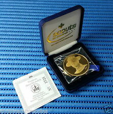 2002 Scouts 22ct Gold plated Medallion (The Queen's Golden Jubilee 1952-2002)