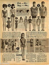 1965 ADVERT Barbie Doll Ken Midge Allan Dolls Skipper Tammy Mattel Fashion