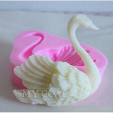 3D Swan Fondant Cake Decorating Sugarcraft Icing Mold Cookies Pastry Mould Tools
