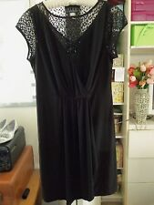Pretty ALEX EVENINGS Cocktail/Party Jersey Dress w/Lacey Insets-Size 14-NEW-$129