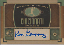 Ken Griffey Sr 2012 UD SP Signature Edition autograph auto card CIN2