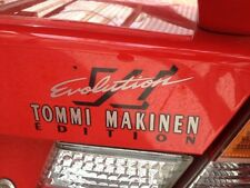 Mitsubishi Evo Tommi Makinen rear boot decal four options!