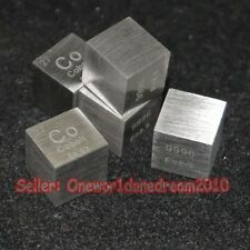 1 Pcs 99.96% Pure Purity Co Cobalt 10mm Cube Carved Element Periodic Table 8.9g