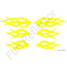 Yellow Flames Bicycle Reflective Stickers Decals