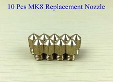 10PCS Makerbot Replicator 1 & 2 Replacement MK8 0.4mm Nozzle 3D Printer Hot End