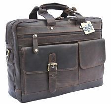 SALE Twenty8 Brompton Dark Brown Leather business bag - Leather Briefcase NEW
