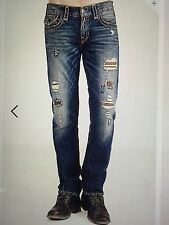TRUE RELIGION GENO SUPER-T MEN JEAN PATCHED RECRUIT ME08NYL7 NWT S-30W $379 USA