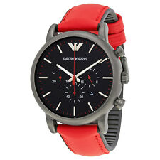 Emporio Armani Luigi Chronograph Black Dial Mens Watch AR1971