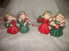 Vintage Christmas Figurine Musician Angels Set  Candle holders Japan Commodore