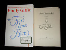 Emily Giffin signed First Comes Love 1/1 HC book signed in person NOT tipped