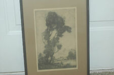 """Marco Zim Russia (1880-1930) Etching titled """"lake View"""""""