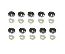 CHROME DOME MIRROR SCREW CAPS 2 PART PLASTIC SCREW CAP COVERS - Packs of 10