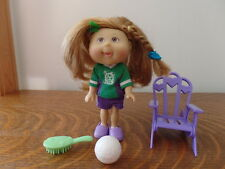 Cabbage Patch Kids Lil Sprouts Soccer Player with Ball, Brush, Chair - Free Ship