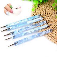 Lot de 5 Dotting Tool Bleu - Nail Art - Manucure - Stylo - Pen
