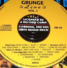 Grunge Live Vol. 1 CD Very Rare Pearl Jam Alive Nirvana Smells Like Teen Spirit