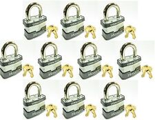 Lock Set by Master 3KA (Lot 10) KEYED ALIKE Commercial Steel Laminated Padlocks