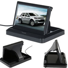 "Fold 5"" TFT LCD Color Car Reverse Rear View Monitor For Backup Camera DVD VCR"